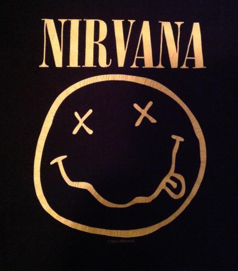 Vintage 1992 NIRVANA Smiley Face T-Shirt 90s tour concert