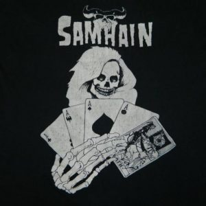 Vintage SAMHAIN CARD DEALER 80S PLAN 9 T-Shirt misfits
