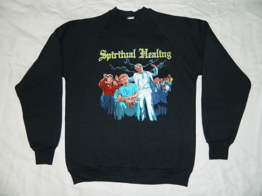Vintage NOS DEATH SWEATSHIRT 1990 SPIRITUAL HEALING TOUR 90s