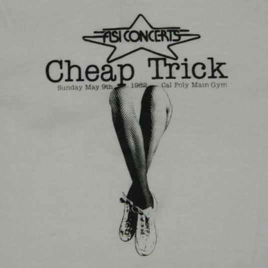 Vintage CHEAP TRICK 1982 CREW JERSEY t-shirt tour