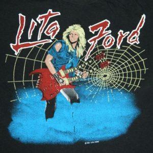 Vintage 1984 LITA FORD TOUR T-Shirt concert