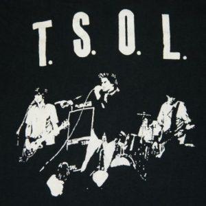 Vintage TSOL 80s Original T-Shirt XL t.s.o.l. Punk