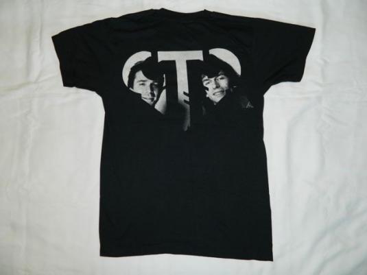 Vintage GTR 1985 PROMO T-Shirt 80s yes asia genesis tour