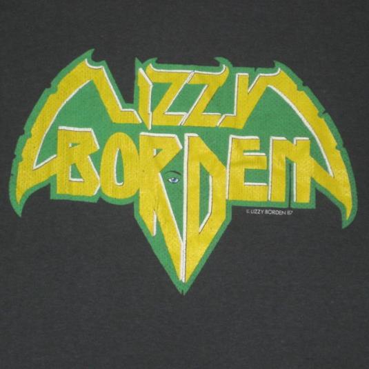 vintage LIZZY BORDEN 1987 WORLD TOUR T-Shirt 80s concert