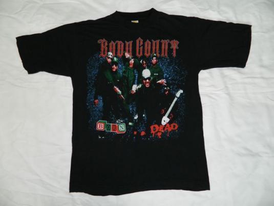 Vintage BODY COUNT 1994 BORN DEAD Tour T-shirt XL concert