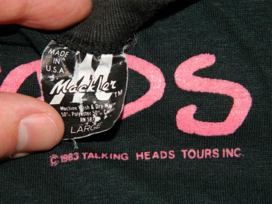 Vintage TALKING HEADS 1983 SPEAKING IN TONGUES TOUR T-SHIRT
