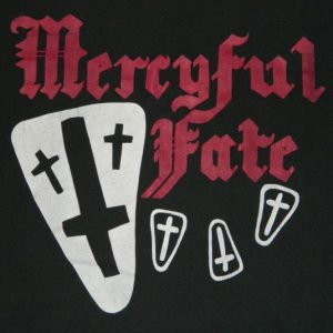 Vintage MERCYFUL FATE 80s T-Shirt Screen Stars XL