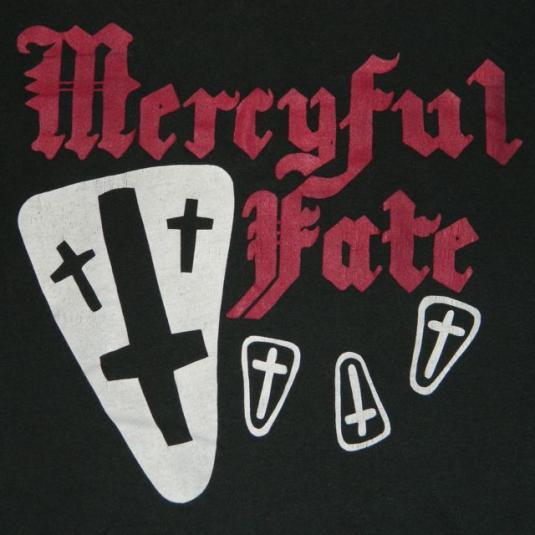 Vintage MERCYFUL FATE 80s T-Shirt Screen Stars XL