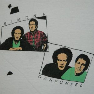 vintage SIMON & GARFUNKEL 1983 SUMMER TOUR T-Shirt 80s folk
