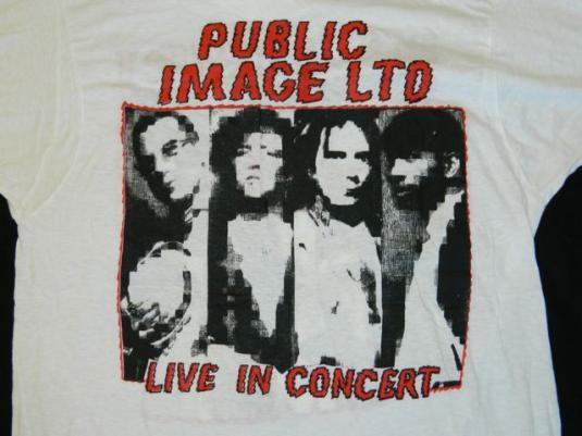 Vintage BIG AUDIO DYNAMITE n PIL Tour T-Shirt Deadstock nos