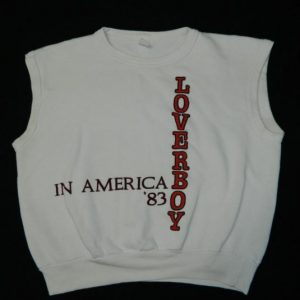 Vintage LOVERBOY 1983 TOUR SWEATSHIRT 80s t-shirt concert
