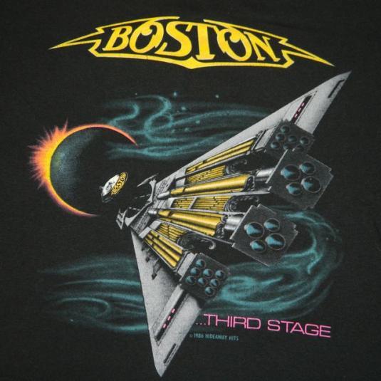 Vintage BOSTON 1987 U.S. Tour T-shirt concert