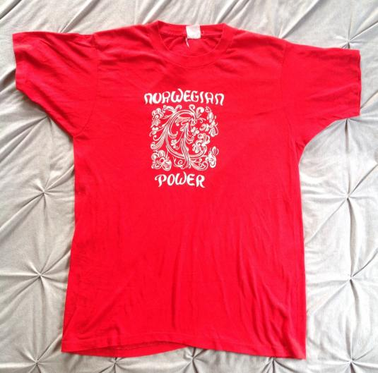 Vintage NORWEGIAN POWER 80s T-Shirt Norway