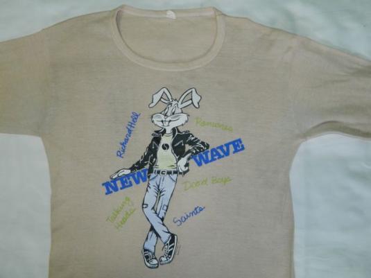 Vintage 1977 L/S RAMONES DEAD BOYS TALKING HEADS T-Shirt 70s