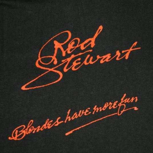 vintage ROD STEWART 1978 BLONDES HAVE MORE FUN Promo T-Shirt