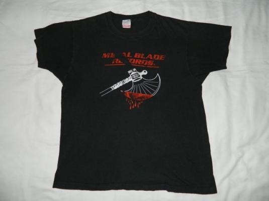 Vintage METAL BLADE RECORDS T-Shirt 80s OG LOGO Metallica