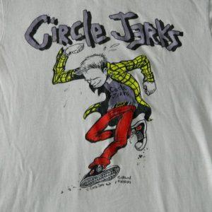 Vintage 80S CIRCLE JERKS T-Shirt Hardcore Punk tour Original
