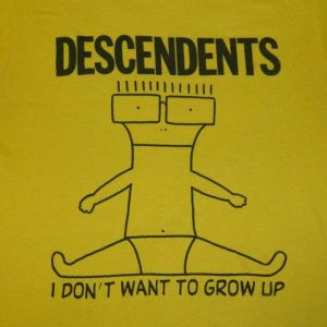 Vintage DESCENDENTS 80S I DON'T WANT TO GROW UP T-Shirt tour