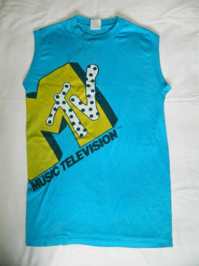 vintage MTV 80s MUSIC TELEVISION T-Shirt muscle tee