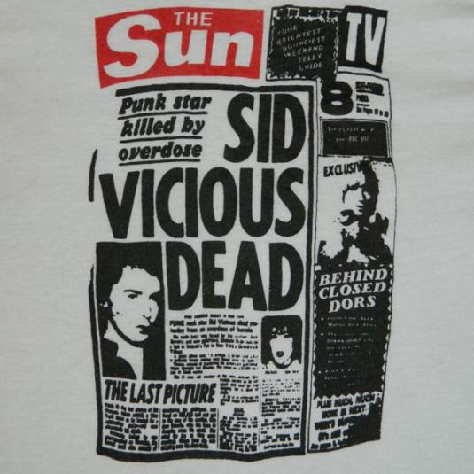 EDDIE ENZYME'S SID VICIOUS T-Shirt vintage 80s the undead