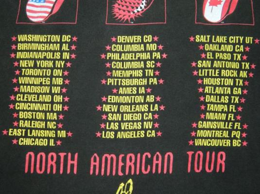Vintage ROLLING STONES 94/95 VOODOO LOUNGE Tour T-Shirt