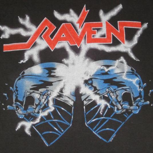 vintage RAVEN 1987 CRACKIN' SKULLS TOUR T-Shirt 80s concert