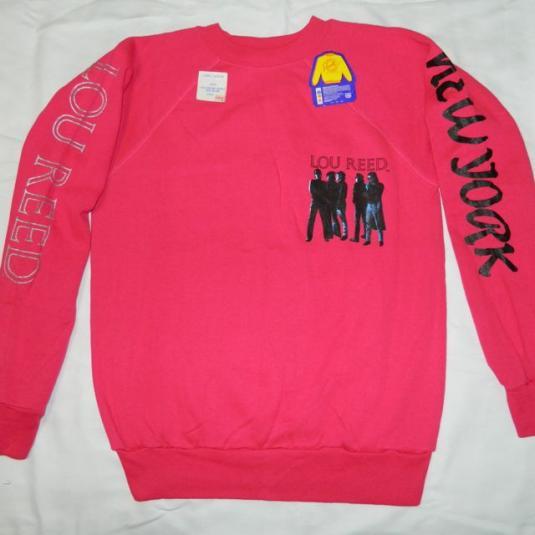 Vintage LOU REED 1989 NEW YORK NOS SWEATSHIRT t shirt 80s