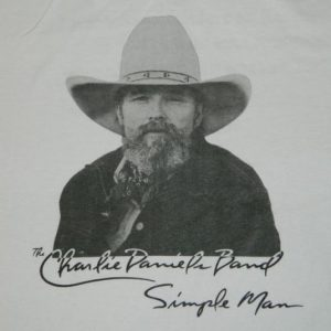 Vintage THE CHARLIE DANIELS BAND 1989 SIMPLE MAN T-Shirt