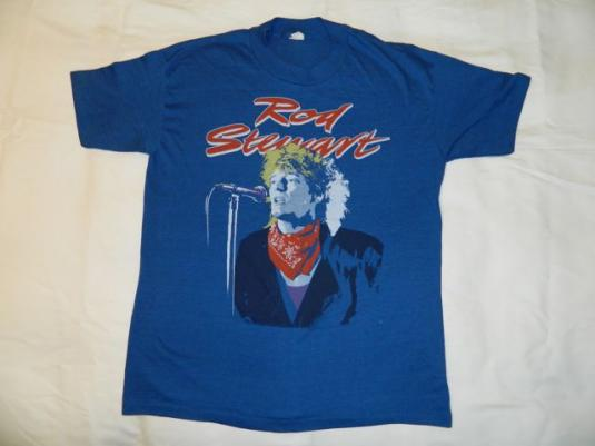Vintage ROD STEWART 1984 Tour T-shirt NOS 80s xl