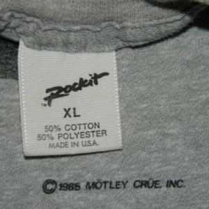LOCAL CRUE MOTLEY CRUE 1985 Vintage Tour T-Shirt XL