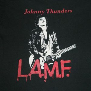 Vintage JOHNNY THUNDERS L.A.M.F. 80S T-Shirt new york dolls