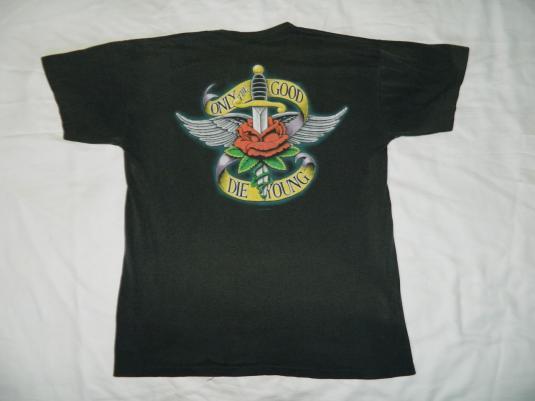 Vintage BILLY JOEL 1990 TOUR T-Shirt STORM FRONT concert