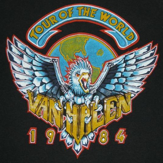 Vintage VAN HALEN 1984 Tour T-Shirt XL Original Concert