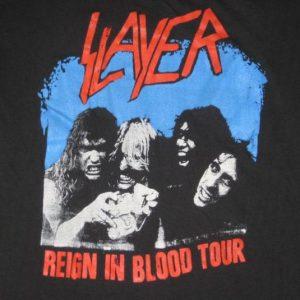 vintage SLAYER + WASP 1987 TOUR T-Shirt w.a.s.p. concert