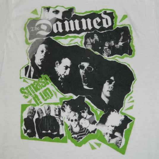 Vintage THE DAMNED 80S SMASH IT UP T-Shirt
