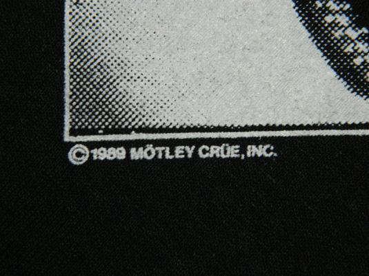 Vintage MOTLEY CRUE 1989 Tour T-Shirt 80s NOS XL