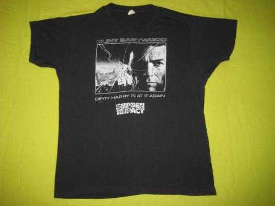 vintage DIRTY HARRY 1983 SUDDEN IMPACT MOVIE PROMO T-Shirt