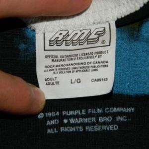 Vintage PRINCE PURPLE RAIN LARGE 1984 Tour JERSEY T-Shirt