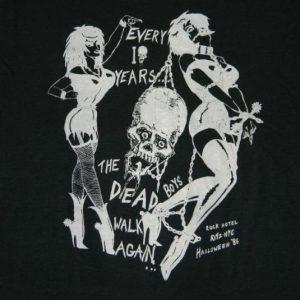 Vintage DEAD BOYS 1986 HALLOWEEN RITZ NYC CONCERT T-Shirt