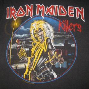 vintage IRON MAIDEN 1981 KILLERS PROMO T-Shirt 80s original