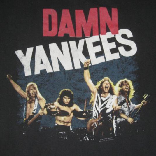 vintage DAMN YANKEES 1990 YANKED TOUR T-Shirt Ted Nugent