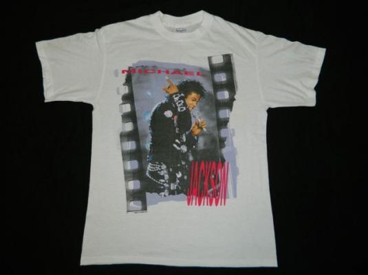 Vintage MICHAEL JACKSON BAD 1988 TOUR T-Shirt concert 80s