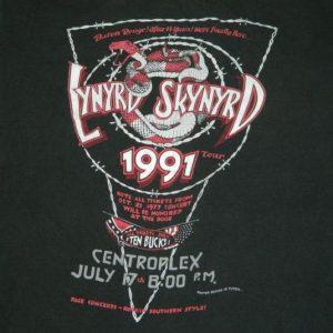 Vintage LYNYRD SKYNYRD BATON ROUGE 1991 TOUR T-Shirt