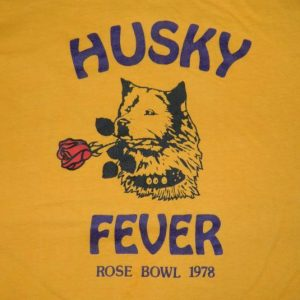 Vintage U OF W HUSKIES 1978 ROSE BOWL T-Shirt WASHINGTON 70S