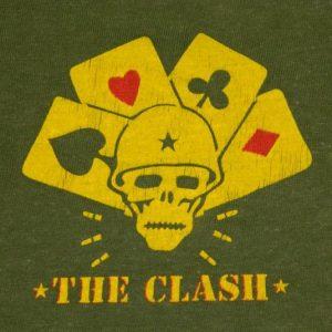 Vintage THE CLASH 1982 COMBAT ROCK TOUR T-Shirt 80s