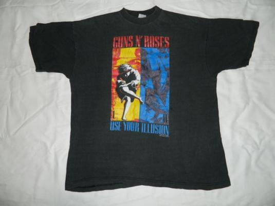 Vintage GUNS N ROSES EUROPEAN 1992 Tour T-Shirt concert