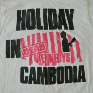 Vintage DEAD KENNEDYS 80S HOLIDAY IN CAMBODIA T-SHIRT