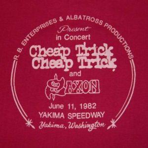 Vintage CHEAP TRICK + SAXON 1982 CONCERT T-Shirt tour