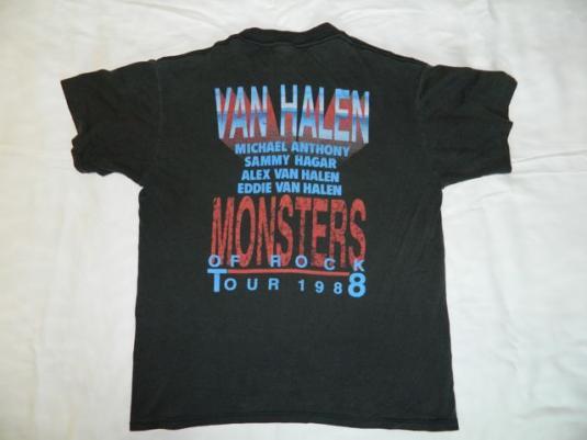 Vintage Monsters Of Rock Van Halen 1988 Tour T-shirt