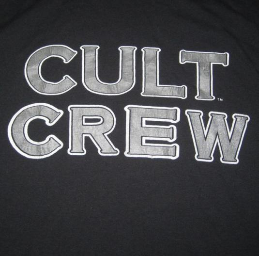vintage THE CULT WORKING CREW 1989 TOUR T-Shirt Sonic Temple